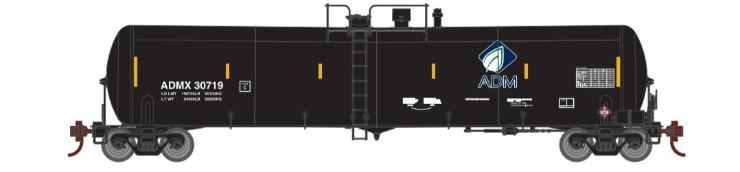 Athearn 29883 HO Scale - RTR 30,000 Gallon Ethanol Tank Car - ADMX (3 pack) Set 2