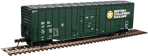 Atlas Model Railroad 20 004 051 HO NSC 5111 50 Ft Plug-Door Boxcar - Ready to Run - Master -  British Columbia Railway #851002
