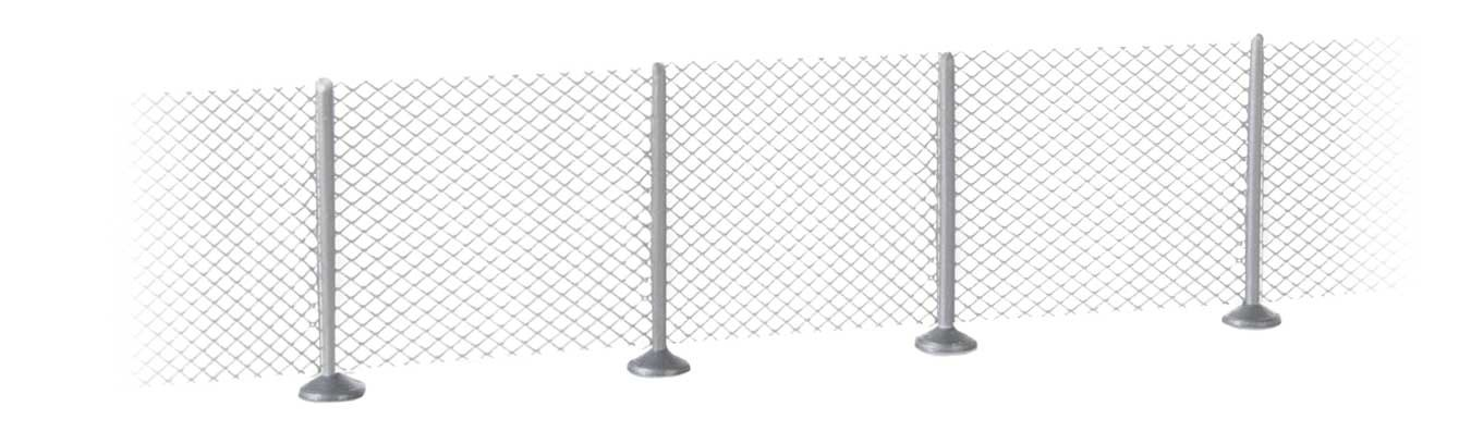 Walthers SceneMaster 9000 N Scale - Metal Industrial Fence (Scale Model) - Kit