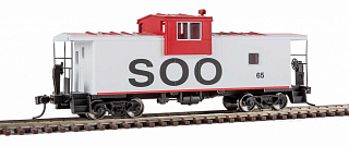 Walthers 8707 HO Mainline International Extended Wide-Vision Caboose -- Soo Line 65