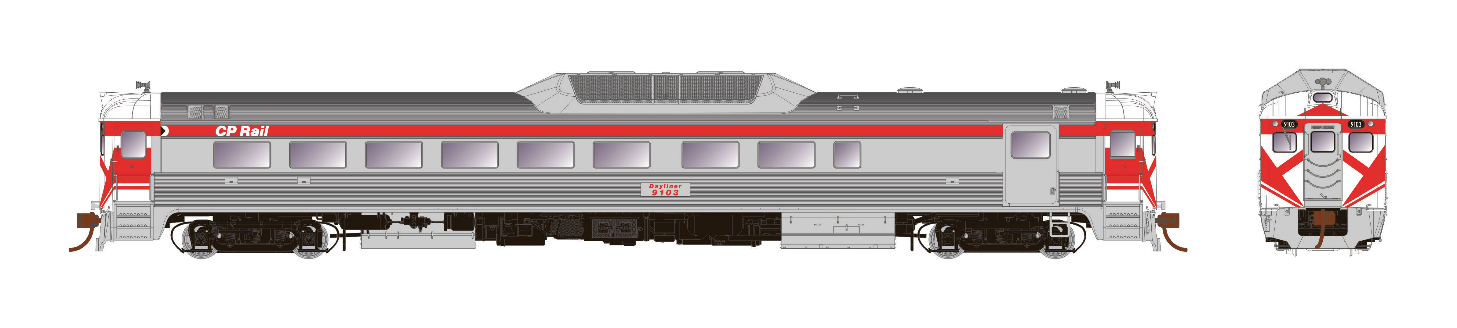 Rapido Trains 16223 - HO Budd RDC-2 - PH2 - DC - CP Rail #9109
