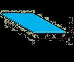 Plastruct 91301 Flouresecent Styrene Sheet Blue (2pcs pkg)