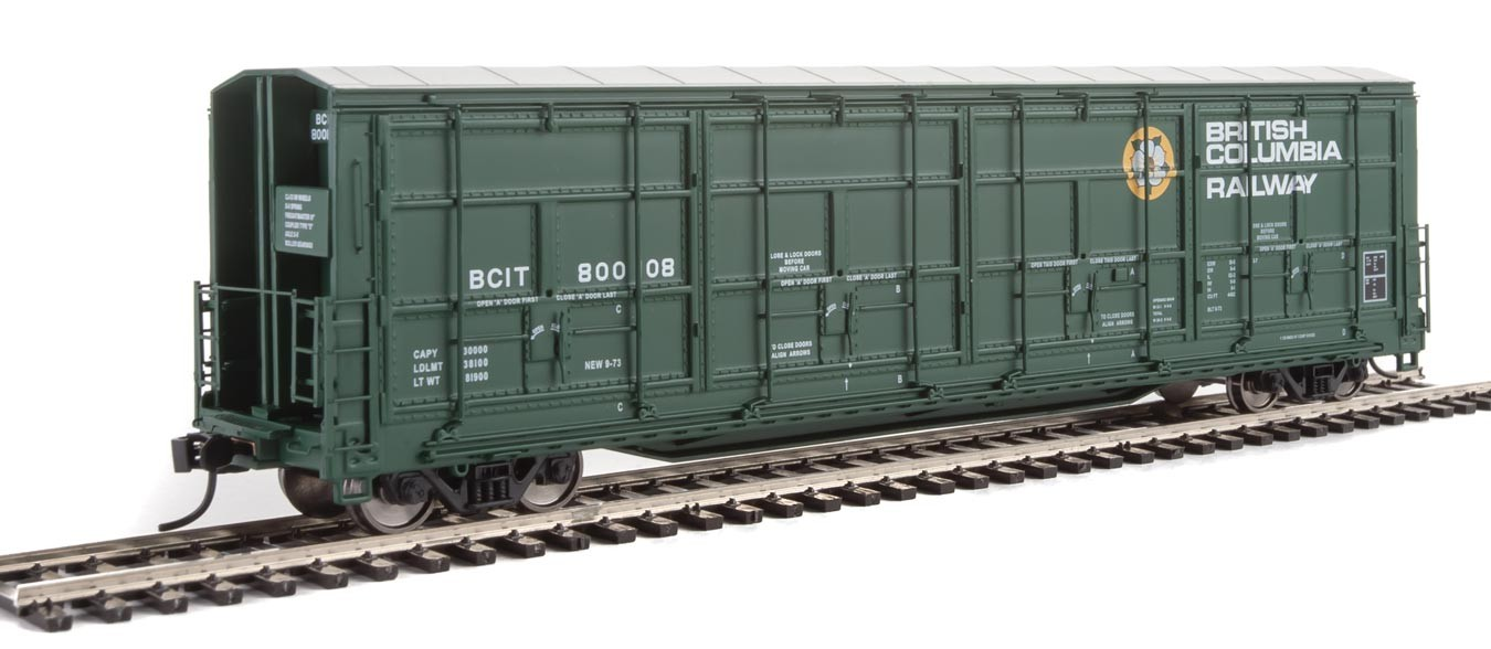 Walthers Proto 101920 - HO 56ft Thrall All-Door Boxcar - British Columbia Railway #800113