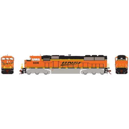 Athearn Genesis G75606 HO - SD60M Diesel Tri-Clops - DCC/Sound - BNSF #9206