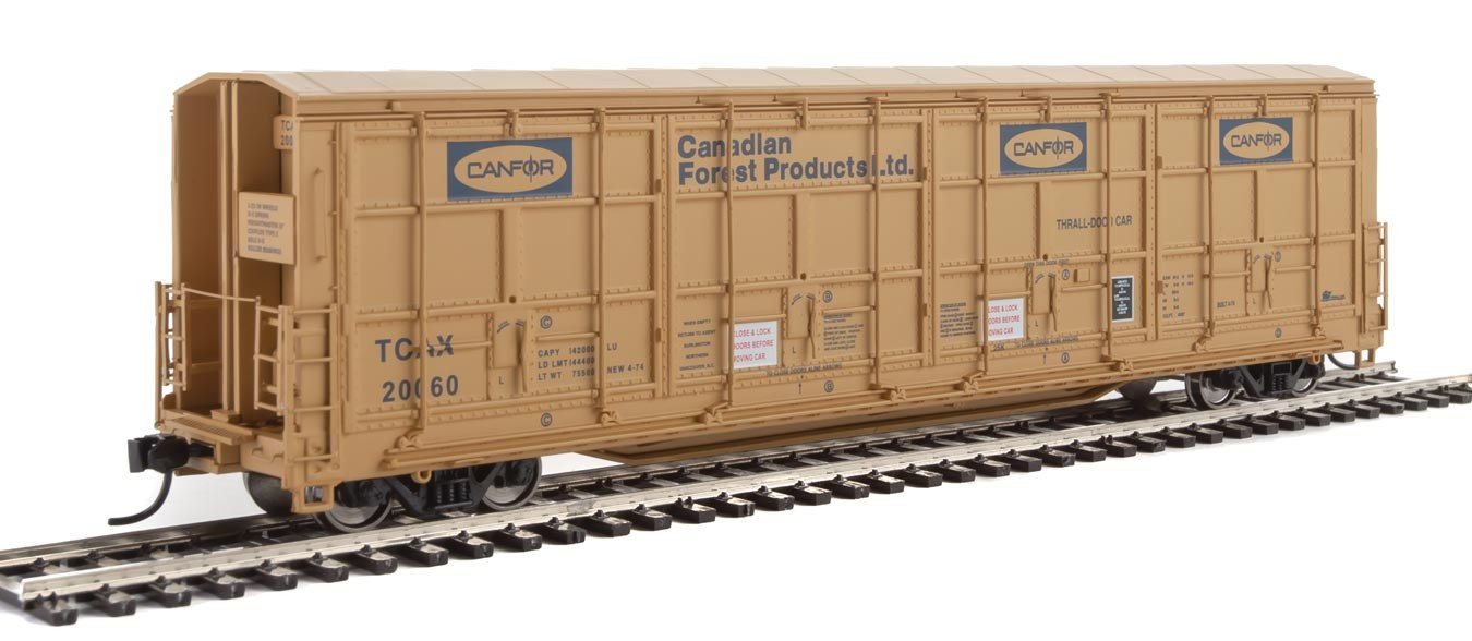Walthers Proto 101923 - HO 56ft Thrall All-Door Boxcar - Canfor #20072