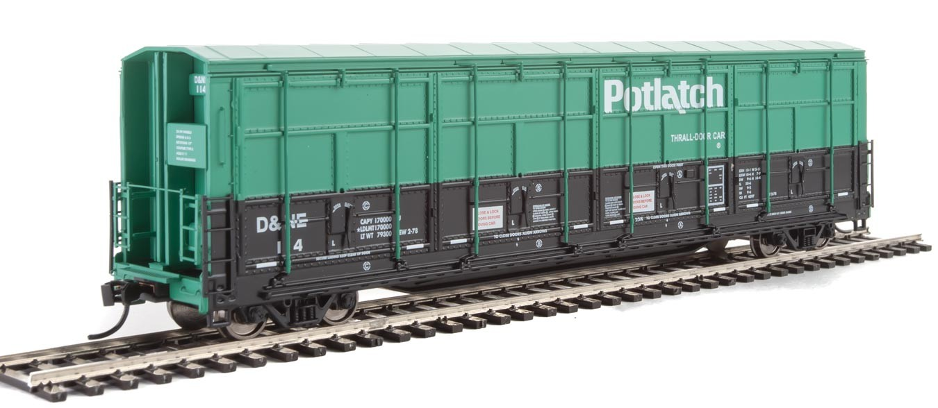 Walthers Proto 101930 - HO 56ft Thrall All-Door Boxcar - Potlatch #114