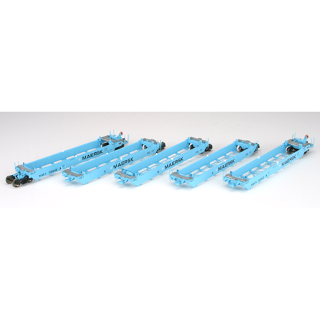 Athearn 95038 - HO RTR Maxi I Well Car/Early - MAEX #100031 (Set 2) (5)