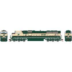 Athearn Genesis G648906 HO Scale - SD70MAC Diesel, W/ DCC & Sound - Burlington Northern #9536