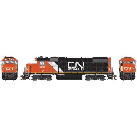 Athearn Genesis G68854 HO Scale - GP38-2 - DCC & Sound - Canadian National/IC w/Web site logo #9571