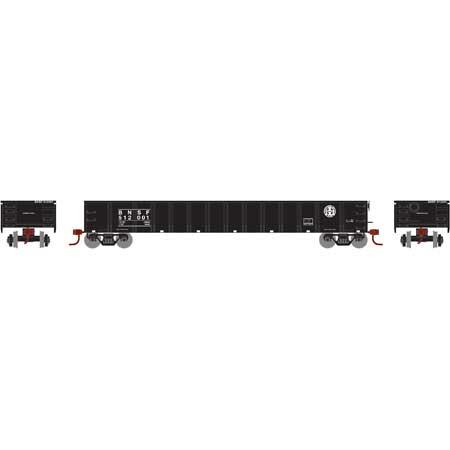 Athearn 97369 HO Scale - RTR 52Ft Mill Gondola, BNSF/ Black #512012