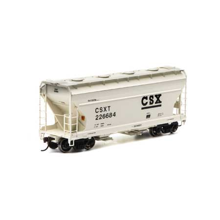 Athearn RTR 93986 - HO ACF 2970 Covered Hopper - CSX/Tan (3pk)