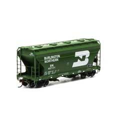 Athearn RTR 93989 - HO ACF 2970 Covered Hopper - Burlington Northern (3pk)