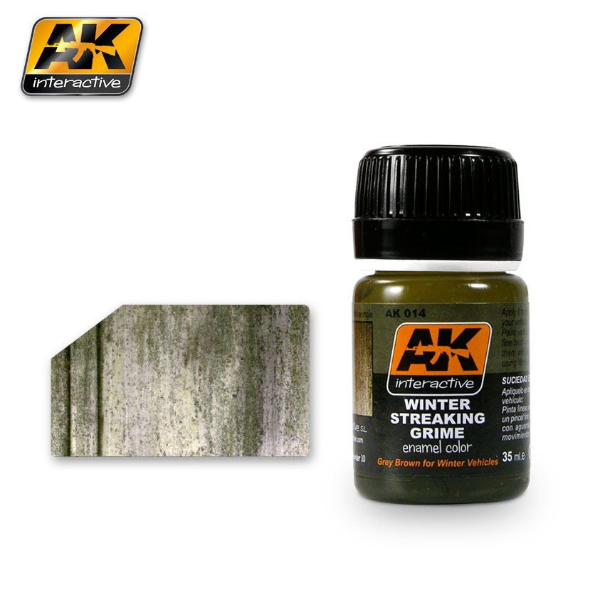 AK Interactive 14 - Winter Streaking Grime -  Enamel Paint - 35ml Bottle