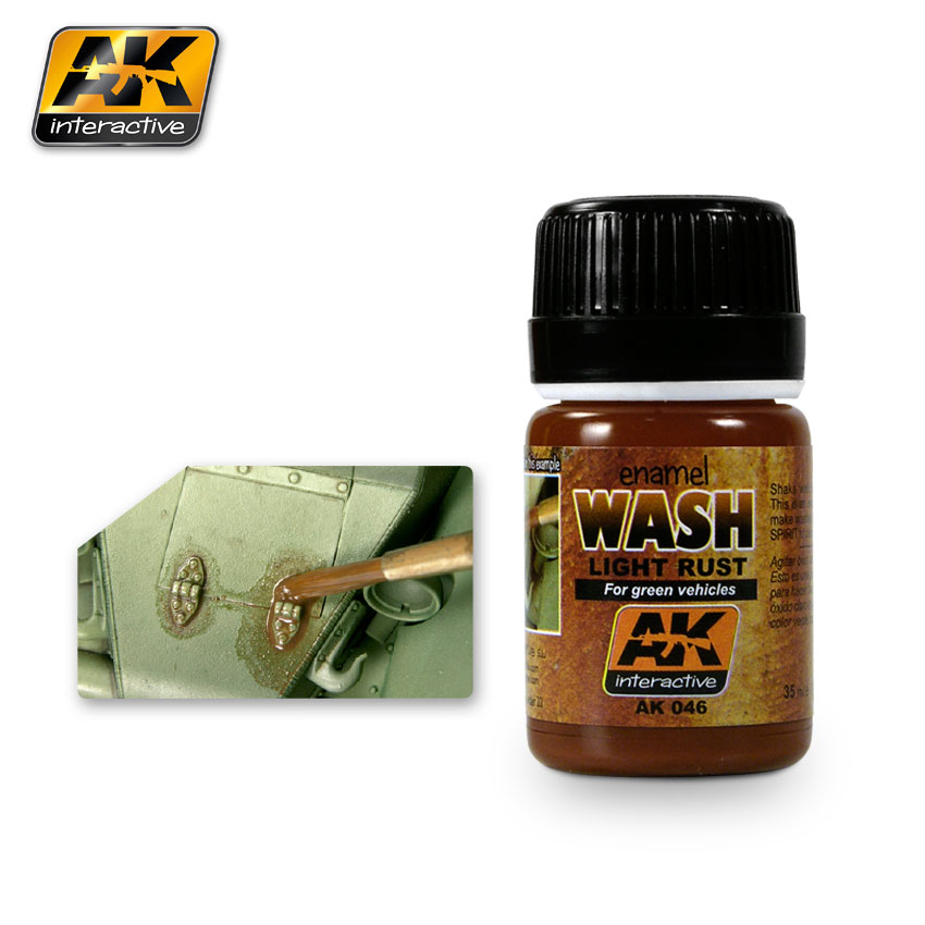 AK Interactive 046 - Light Rust Wash -  Enamel Paint - 35ml Bottle