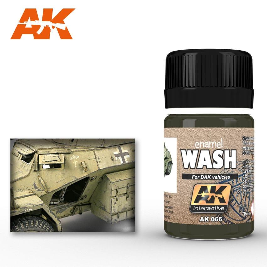 AK Interactive 66 DAK Vehicle Wash Enamel Paint 35ml