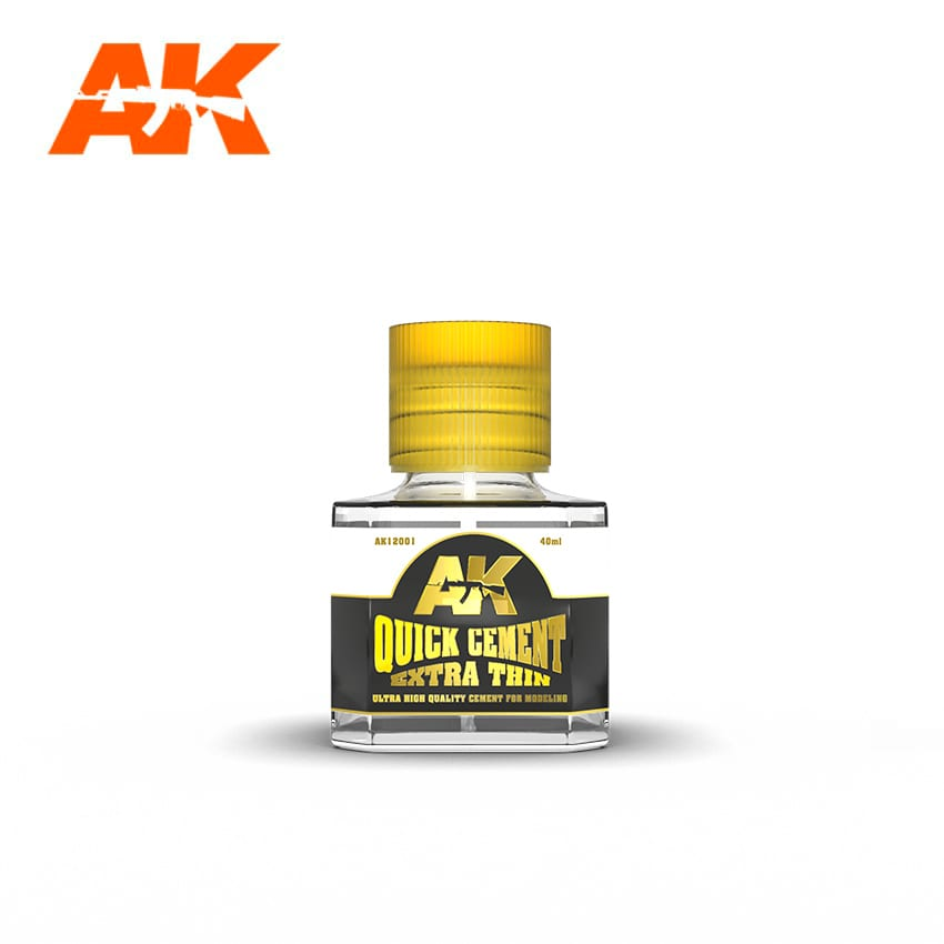 AK Interactive 12001 Quick Cement Extra Thin 40ml