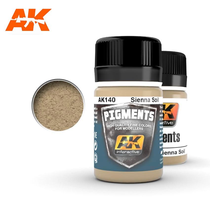AK Interactive 140 Sienna Soil Pigment 35ml