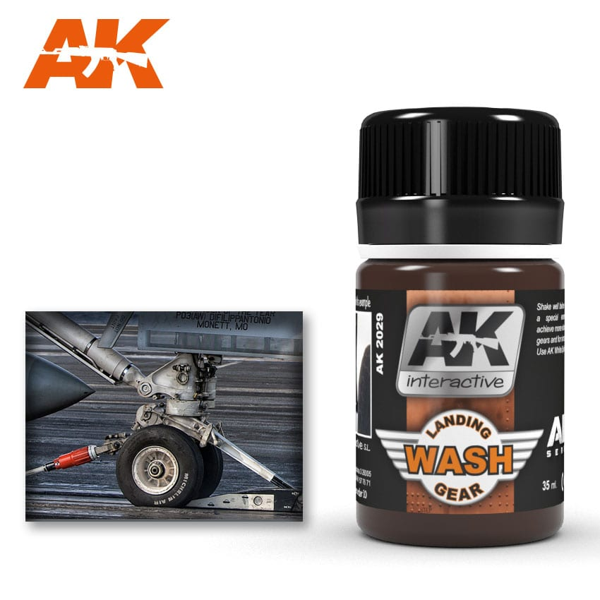 AK Interactive 2029 Air Series Landing Gear Enamel Wash 35ml