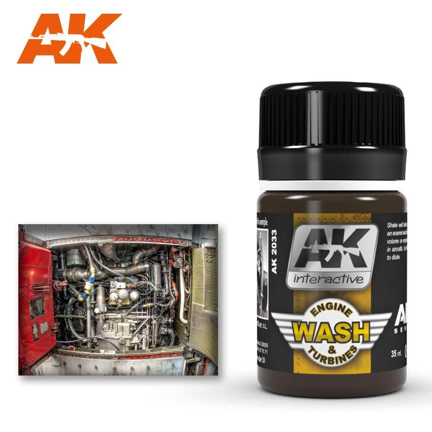 AK Interactive 2033 Air Series Engine and Turbines Enamel Wash 35ml
