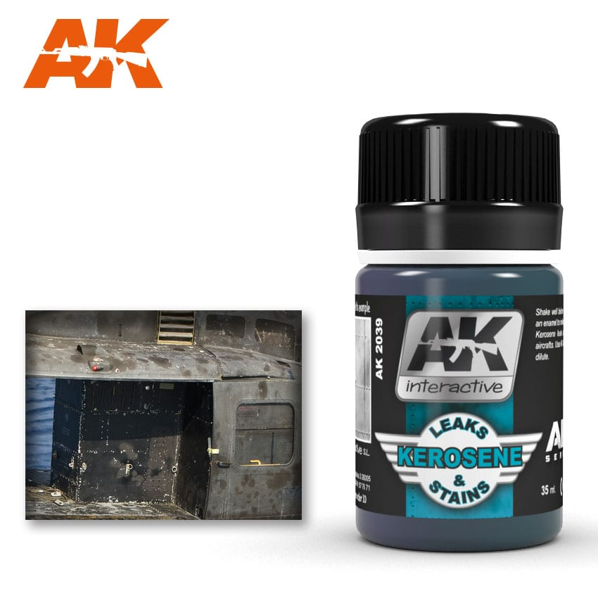 AK Interactive 2039 Air series Kerosene Leaks and Stains Kerosene Enamel Wash 35ml