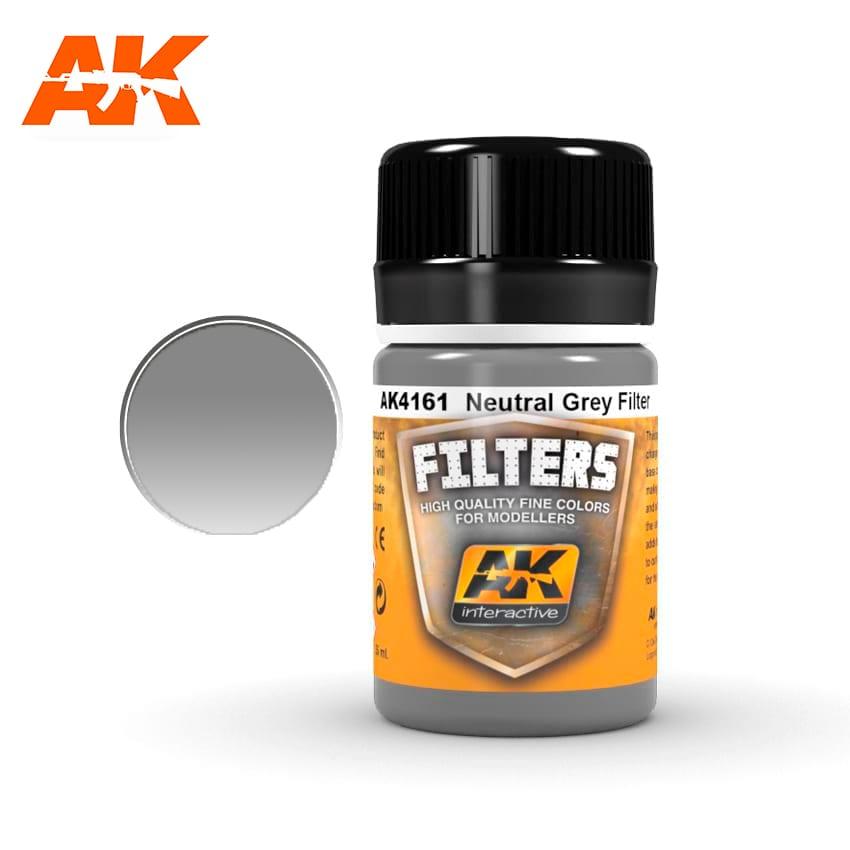 AK Interactive 4161 Neutral Grey Filter Enamel Paint 35ml