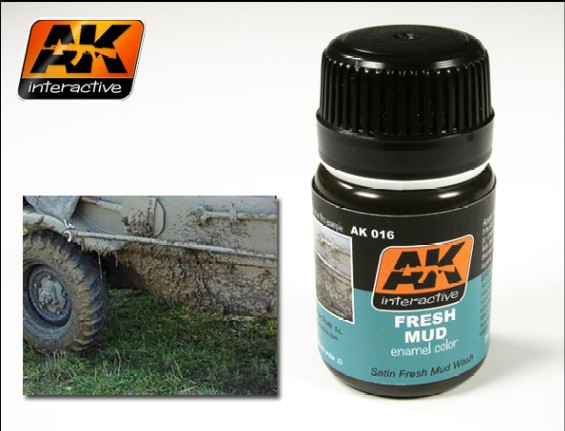 AK Interactive 16 - Fresh Mud -  Enamel Paint - 35ml Bottle