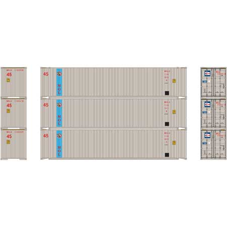 Athearn 27032 - HO 45ft Container - MOL (3/pkg)