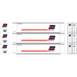 Athearn 27731 - HO 48ft Container - BN America (3/pkg)