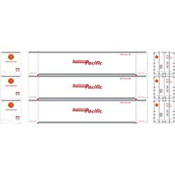 Athearn 27735 - HO 48ft Container - Southern Pacific (3/pkg)