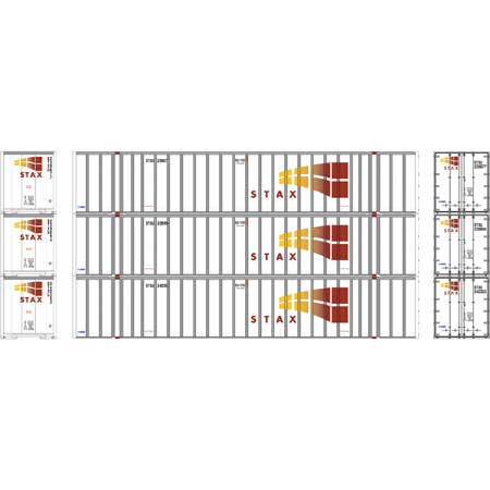 Athearn RTR 72776 - HO 53ft Stoughton Container - STAX (3pk)