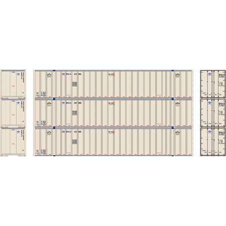 Athearn RTR 72777 - HO 53ft Stoughton Container - USA Truck (3pk)