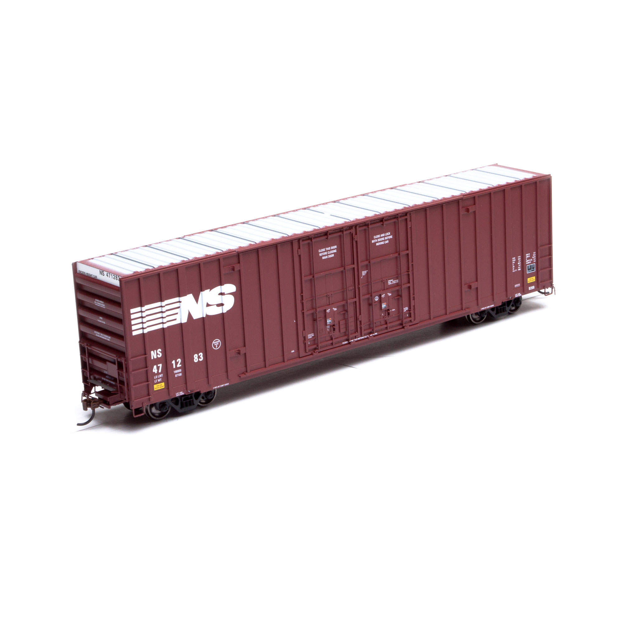 Athearn 75044 HO RTR 60 FT Gunderson Double Door Hi-Cube Box, Norfolk Southern NS #471312