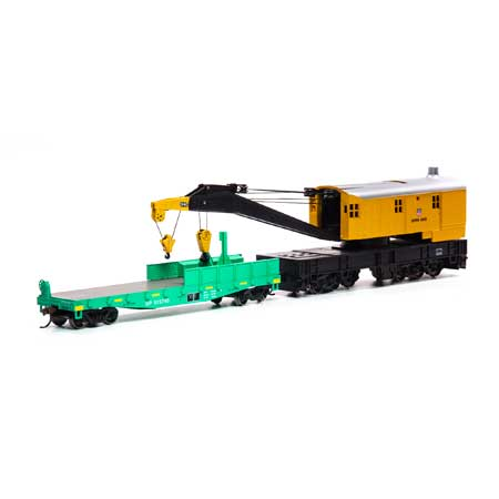 Athearn RTR 75414 - HO 200-Ton Crane w/Tender - SPMW/Orange #6005