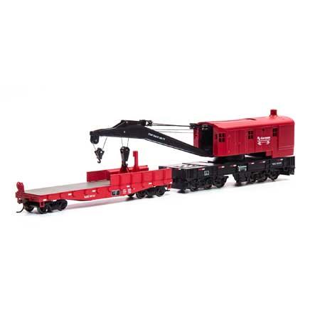 Athearn RTR 75419 - HO 200-Ton Crane w/Tender - RJ Corman #493558