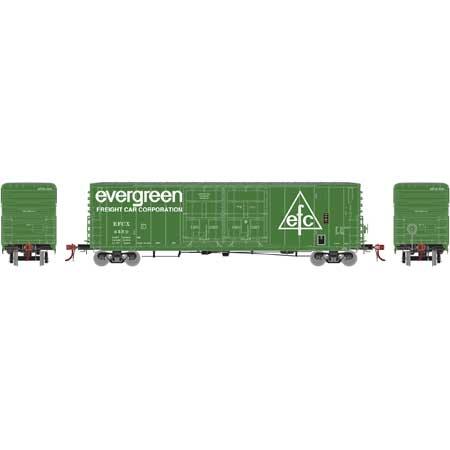 Athearn Genesis G87970 HO 50 Ft PC&F Box/8 Ft & 8 Ft YSD Plug, Evergreen #3688