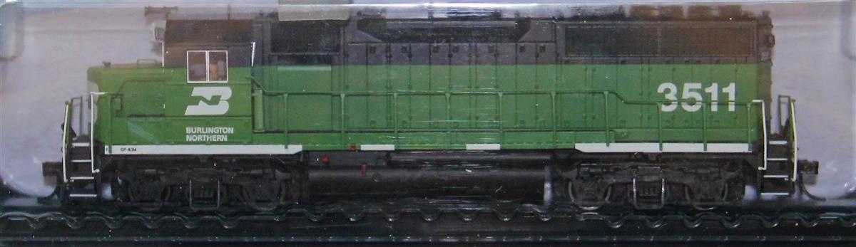 Atlas 10002426 HO Scale EMD GP40 Low Nose w/Sound & DCC - Master Gold -- Burlington Northern #3515