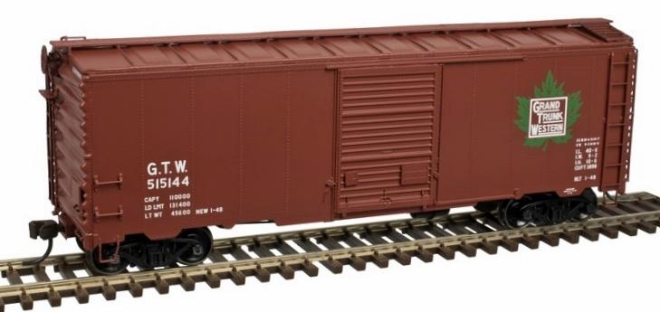 Atlas Master Line HO 20 004 246 40 Ft Postwar Box Car with 7 Ft Door, Grand Trunk Western #515185