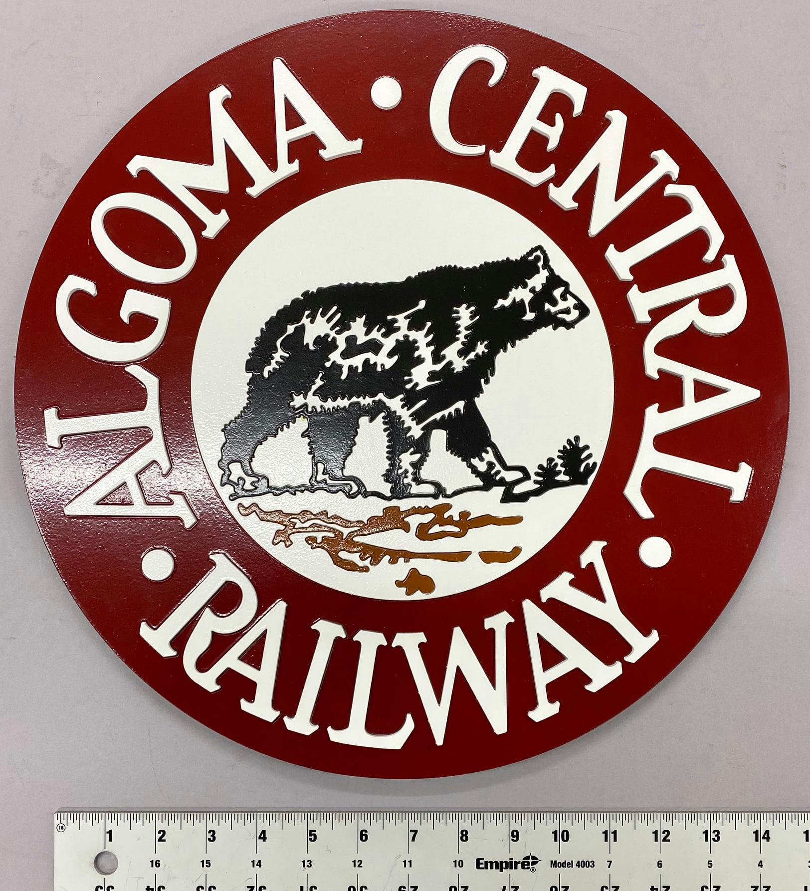 Stoddarts Ltd. MC - 3D Railroad Wall Artwork - Algoma Central Logo