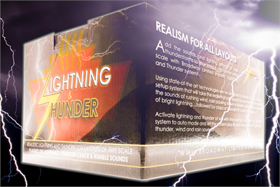 Broadway Limited Imports 1598 All Scale - Lightning & Thunder Accessory - Rain, Wind & Lightning Effects