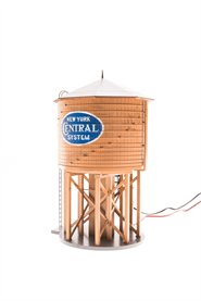 Broadway Limited 6093 HO Operating Water Tower w/ Sound, New York Central - Weathered Brown