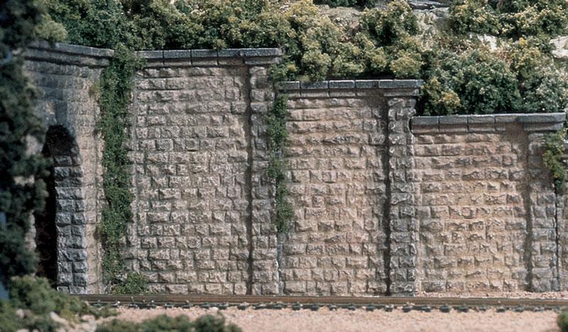 Woodland Scenics 1259 HO Cut Stone Retaining Wall -3 pcs set
