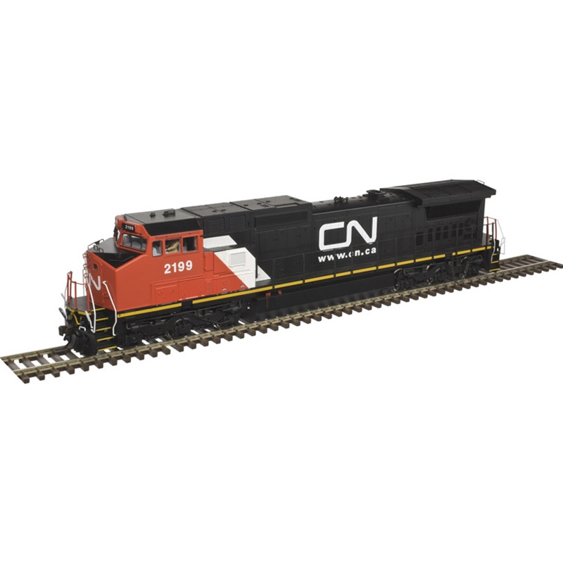 Atlas 10 002 282 HO Dash 8-40CW Locomotive DCC ready Silver Canadian National #2179