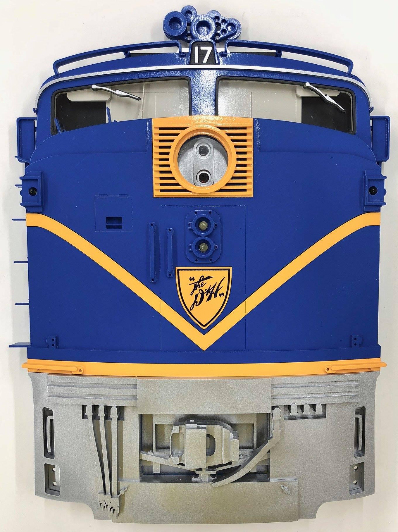 Stoddarts Ltd. 17 - 3D Railroad Wall Artwork - D&H PA Locomotive #17
