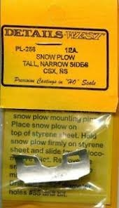 Details West 256 - HO Snow Plow - CSX Transportation & Norfolk Southern