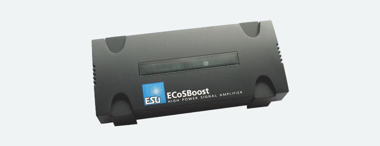 ESU LLC. 50012 - ECoSBoost 7A, MM/DCC/SX/M4, set w/ power supply 120-240V, EURO + US, manual german/english