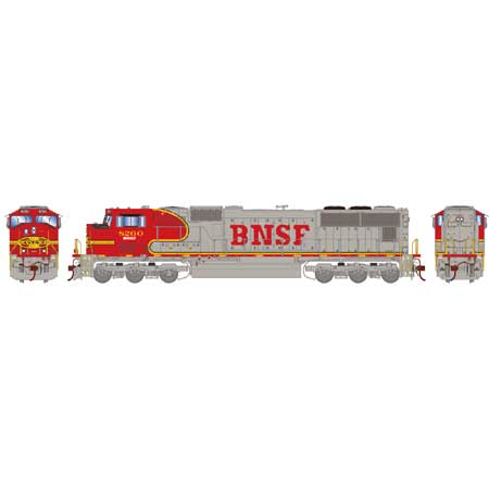 Athearn Genesis G70643 - HO SD75M Diesel, w/DCC & Sound, BNSF/Warbonnet #8263