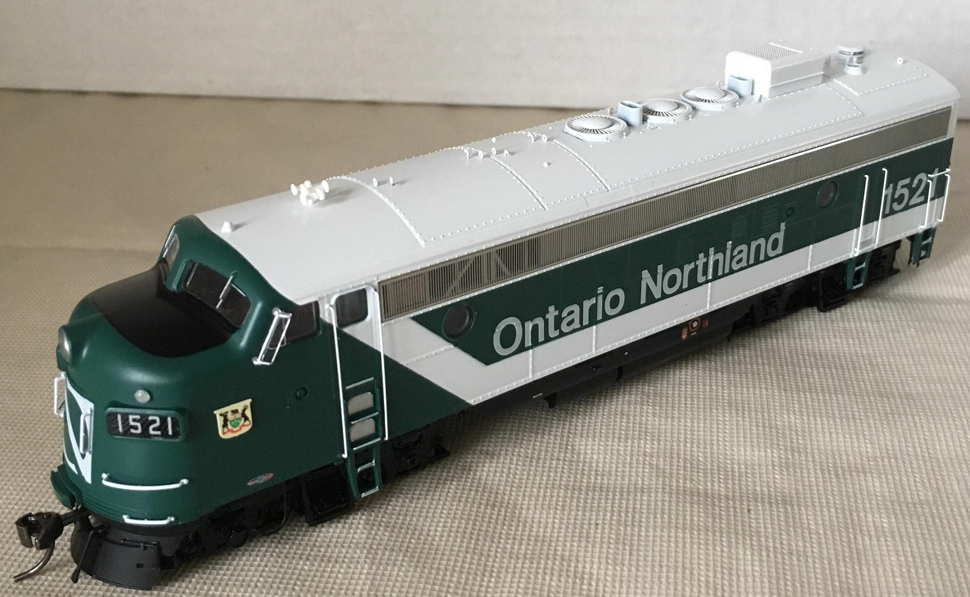 Rapido Trains 222527 - HO GMD FP7 - DCC/Sound - Ontario Northland (Progressive) #1517