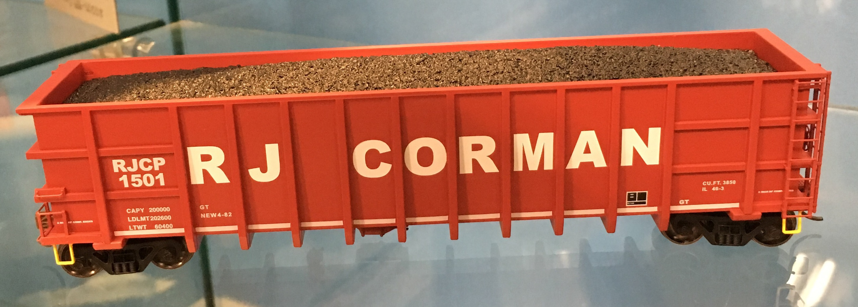Athearn 16484 HO Thrall High Side Gondola, RJ Corman #1 (3)