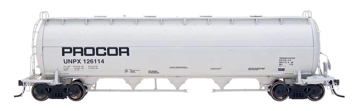 Intermountain Railway 48907-5 HO Procor Pressure Flow Hoppers Procor #126004