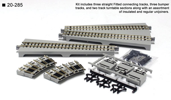 Kato 20-285 N Scale Unitrack - Straight Turntable Extension Track Set